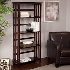 buy mission style 4 tier open bookcase cherry in cheap price on m