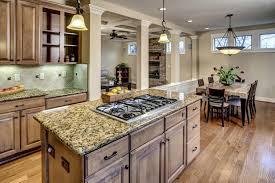 Mediterranean Kitchen Bellevue - traditional kitchen with one wall u0026 kitchen island in bellevue wa
