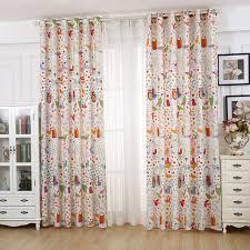 owl bedroom curtains cartoon child bedroom curtain fluid partition curtain curtains