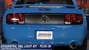 99 04 mustang sequential tail light kit mustang raxiom sequential tail light kit plug in 05 09 all