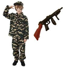 Army Halloween Costumes Girls Child Boys Kids Army Soldier Fancy Dress Costume Party Uniform