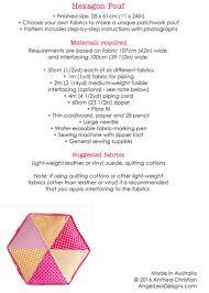 hexagon pouf pdf sewing pattern angel lea designs