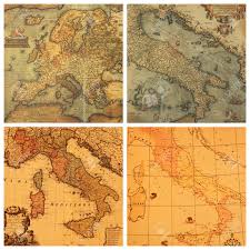 Maps Italy by Collage With Images Of Antique Maps Italy Europe Stock Photo