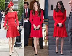 kate middelton alexander mcqueen pleated red dress thrifty kate