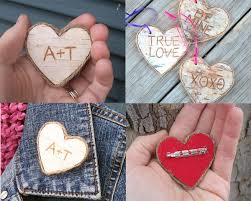 cheap day gifts sweet cheap s day gift custom birch heart pins