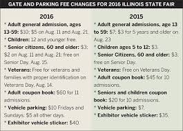 illinois state fair general admission cost going up will be 10