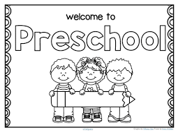 Preschool Writing Paper Template Free Back To School Welcome Poster For Preschool Write