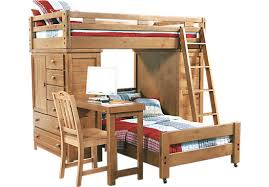bedroom appealing twin mid loft study and storage bed with desk