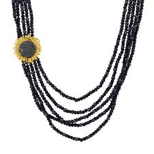 multi strand necklace images Vincent multi strand necklace w onyx spinel diamonds in jpg