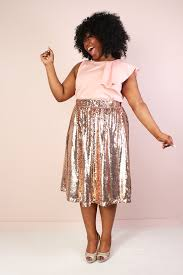 sequin skirt plus size mermaiden sequin midi skirt gold society plus
