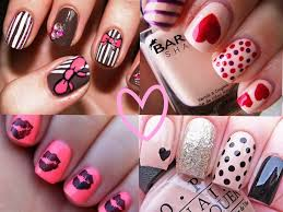 22 lovely nail art designs for valentine u0027s day 2015 indian