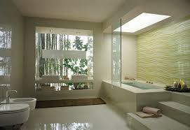 Cream Wave Bathroom Tile Stepped Bathtub Interior Design Ideas - Interior design bathroom tiles