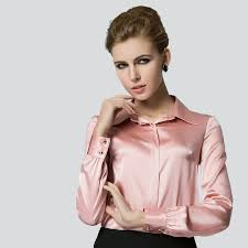 plus size silk blouse silk blouse sleeve solid shirt blusas femininas office