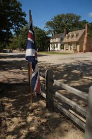 Colonial British Flag The British Flag In A Corner In Colonial Williamsburg