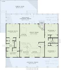 one story house plans with two master suites houseplans com country farmhouse main floor plan plan 17 2512