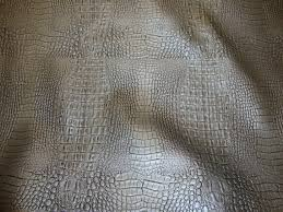 Alligator Upholstery Silver Embossed Alligator Upholstery Faux Leather Vinyl Fabric Per