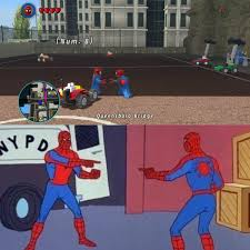 Spider Man Meme - accidentally recreated the impostor spider man meme in lego marvel