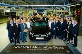 mercedes factory hungarian mercedes benz factory completes 500 000th car the