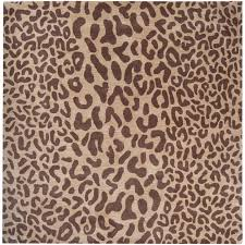 wall decor for dining room area brown animal print rugs arafen hand tufted brown leopard whimsy animal print wool rug x tan basenji square room interior