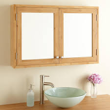 double door mirrored bathroom cabinet bathroom wall mount natural wood frame double door mirrored