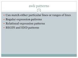 pattern matching using awk exles awk essentials