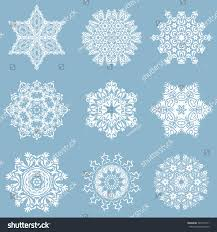 set 9 snowflakes doodles dots on stock illustration 542572771