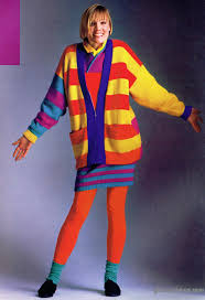 80s sweater dress bright and colorful esprit i remember this ad