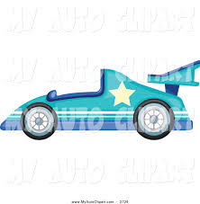 teal car clipart clip art of a blue race car with a star by graphics rf 2728