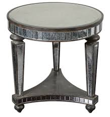 Antique Accent Table And Vintage Mirrored Accent Table With Shelves And 3