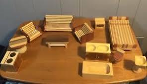 dolls house kitchen furniture vintage wood doll house kitchen furniture sofa chairs bed table