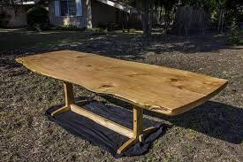 cypress slab dining room table by tomhumphrey lumberjocks com