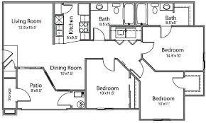 small 3 bedroom 2 bath floor plans 3 bedroom 2 bath mobile home