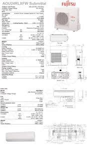 24000 btu ductless mini split air conditioner seer 18 fujitsu cool
