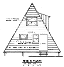 small a frame cabin plans a frame cabin design house plans decks and a