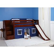girls twin loft bed with slide bed low loft with stairs playhouse bunk beds great kids girls