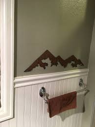 rustic home decor wall sculpture mountain range wall hanging