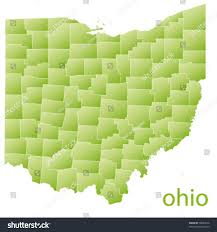 Ohio Usa Map by Map Ohio State Usa Stock Vector 78089416 Shutterstock