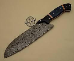 kitchen knives with sheaths damascus kitchen knife custom handmade damascus steel kitchen