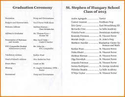 graduation ceremony program template eliolera com