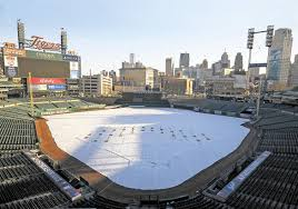 Comerica Park Map Comerica Has A Field Day Playing Surface Replacement Not A Walk