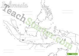 indonesia map worksheet teaching resource u2013 teach starter