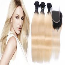 Black To Brown Ombre Hair Extensions by Amazon Com Carina Hair 1b 613 Dark Root Blonde Brazilian Virgin