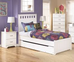 Pictures Of Trundle Beds Lulu B102 Twin Size Panel Bed With Trundle Ashley Kids Furniture