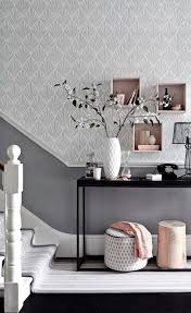 team a patterned wallpaper in a soft shade with a darker toning