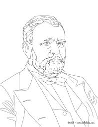 president general ulysses grant coloring pages hellokids com