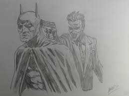 batman and joker pencil drawing by jadunsykes on deviantart