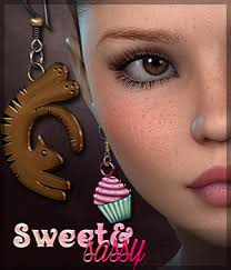 sweet and sassy earrings sv s sweet sassy earrings 3d figure assets sveva