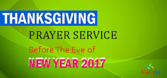 thanksgiving prayer service before the of new year 2017