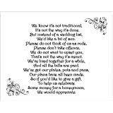 Wedding Gift Money Poem 24 X Wedding Honeymoon Money Gift Request Poem Cards For Wedding