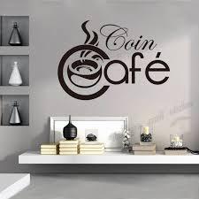 vinyl mural cuisine stickers cuisine coffee vinyl wall decals wallpaper for